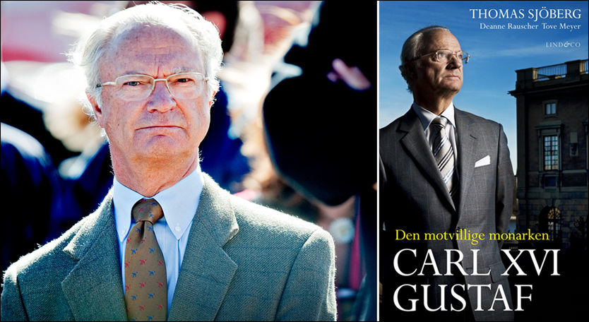I MOTVÆR: Skandalene i boken om Carl XVI Gustaf av Sverige har opprørt mange. Foto: Aftonbladet / Jon Olav Nesvold.