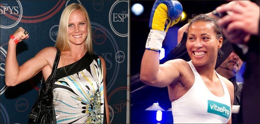HVEM ER BEST?: Det får hele verden svaret på til våren når Holly Holm (t.v.) og Cecilia Brækhus møtes i bokseringen på et foreløpig ukjent sted. Foto: Getty / Scanpix