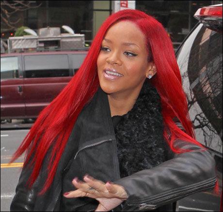 NY STIL: Rihanna i New York i dag. Foto: Bulls