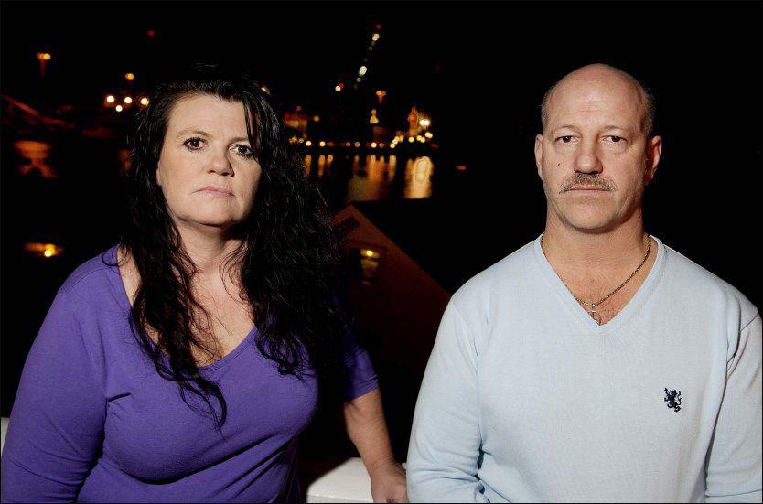 I SORG: Heidi Christie-Otnes og broren Leif Bratein venter fortsatt på at faren skal bli endelig identifisert. Foto: Espen Braata