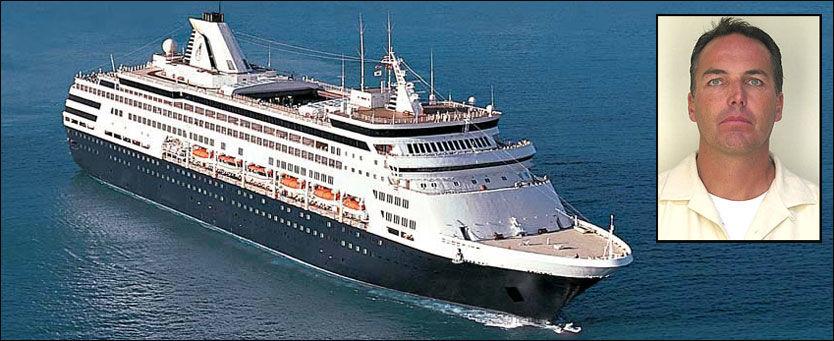 ANKERMANN: Etter at Rick Ehlert ble arrestert i helgen, har nyheten om fyllestuntet på cruiseskipet «Ryndam» gått verden rundt. Foto: HOLLAND AMERICA LINE/FBI