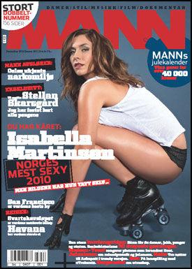 ÅRETS MEST SEXY KVINNE: Isabella Martinsen (31) vant bladet Manns kåring av Norges mest sexy kvinne. Foto: Faksimile fra Mann