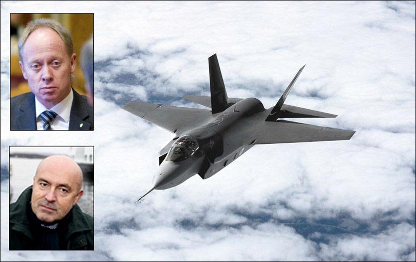 KREVER GJENNOMGANG: Jan Arild Ellingsen (Frp) og Ivar Kristiansen (H) vil ha full åpenhet om hva som skjedde i forkant av jagerfly-kjøpet. Amerikanskproduserte Joint Strike Fighter (F-35) er Norges nye kampfly. Foto: SCANPIX/KNUT ERIK KNUDSEN/LOCKHEED MARTIN