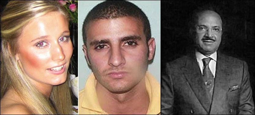 ETTERSØKT: Farouk Abdulhak (midten) er ettersøkt for drapet på Martine Vik Magnussen. Britisk politi tror han blir holdt skjult av faren sin, Shaher Abdulhak. Foto: Privat/Metropolian Police