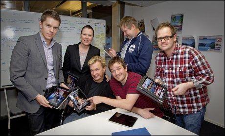 VG+ -REDAKSJONEN: Fra venstre: Tor Jacobsen, Elisabeth Skarsbø Moen, Espen Olsen Langfeldt, Håvar Bremer, Jørn Kaalstad og Thomas Andreassen. Foto: Jan Petter Lynau/VG