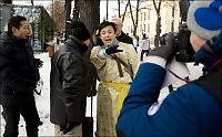 Demonstranter til angrep på Liu Xiaobo-tilhengere