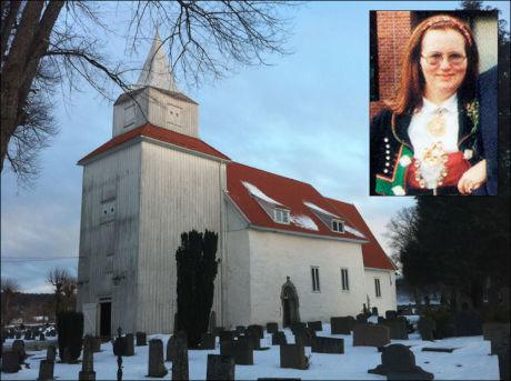BEGRAVELSESSEREMONI: Ellen Ugland ble begravet fra Fjære kirke ved Grimstad i dag. Seremonien startet klokken 13.30. Foto: Petter Emil Wikøren, VG/Privat