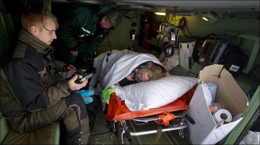 JULEDRAMA: Militæret måtte i aksjon for å hjelpe fødende Gitte Wang Hansen til sykehus. Foto: Scanpix