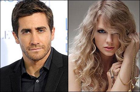 OVER: Hollywood-stjernen Jake Gyllenhaal (30) og countryprinsessen Taylor Swift (21). Foto: Foto: AP og Universal