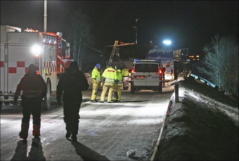 TRAGEDIE: Fem personer mistet livet på E8 Nordkjosbotn og Tromsø i går ettermiddag. Foto: SCANPIX
