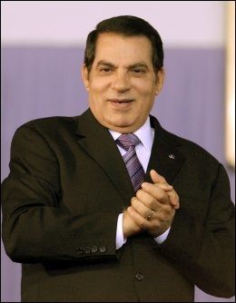FORLOT LANDET: President Zine al-Abidine Ben Ali. Foto: AFP