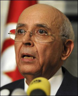 STATSMINISTER: Mohamed Ghannouchi. Foto: AP