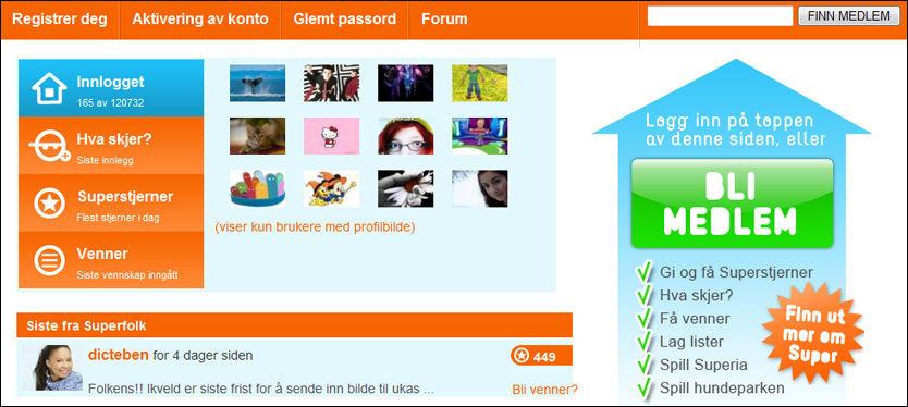 NRK-SAMFUNN: NRK Super har et nettsamfunn med over 120.000 medlemmer. De lover at det skal bli lettere å slette profilen sin i framtida. Foto: Faksimile