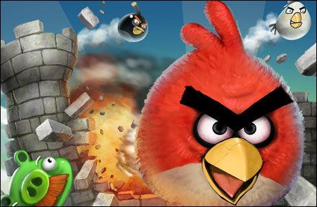 SINTE FUGLER: Angry Birds fra finske Rovio ble først lansert i desember 2009, men har allerede klatret til fjerdeplass over tidenes mest solgte iPhone-apps. (Foto: Rovio)