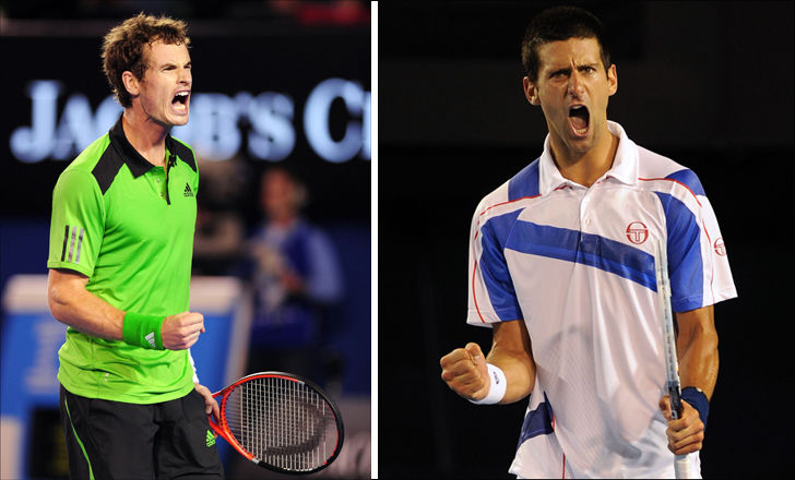 FINALEKLARE: Andy Murray (til venstre) og Novak Djokovic vant begge sin semifinale og møtes nå i Australian Open-finalen. Foto: Pa Photos/Afp