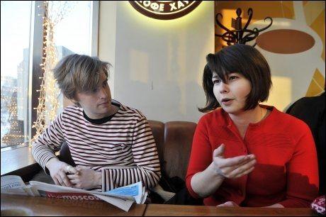 VENTER PÅ PASS: Maria Amelie er i Moskva med kjæresten Eivind Trædal. Hun håper å få pass i løpet av uken. Foto: Terje Mortensen