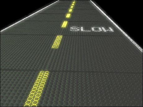 FRIKSJON: Overflaten skal være røff nok til at det er skikkelig friksjon. Foto: Solar Roadways