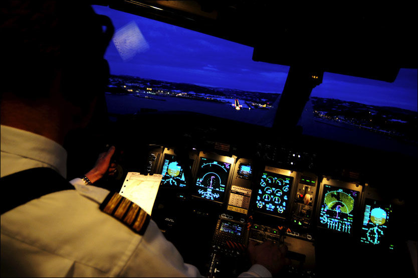 SA-Z-Z-Z-Z: Piloten sovnet mens annenpiloten var på toalettet. Det kunne endt i krise. Foto: Illustrasjonsbilde: Martin Nilsen