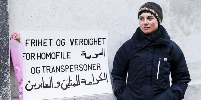 UBEHAGELIG: Sara Azmeh Rasmussen oppfattet situasjonen onsdag kveld som ubehagelig, og det som ble sagt som en klar trussel. Foto: Berit Roald/Scanpix