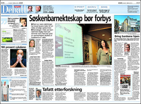 Faksimile VG 07.02.2011 Foto: