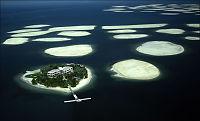 Rikmannsøyer i Dubai synker i havet