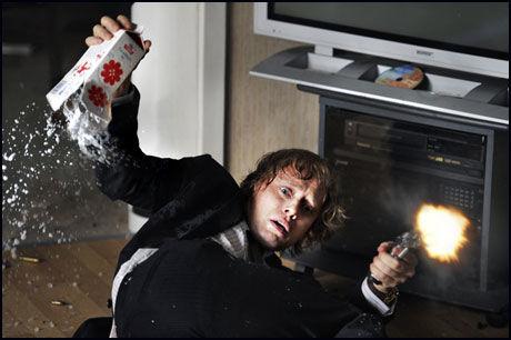 KLAR FOR USA-LANSERING: Aksel Hennie i rollen som Roger Brown i «Hodejegerne» Foto: Nordisk Film