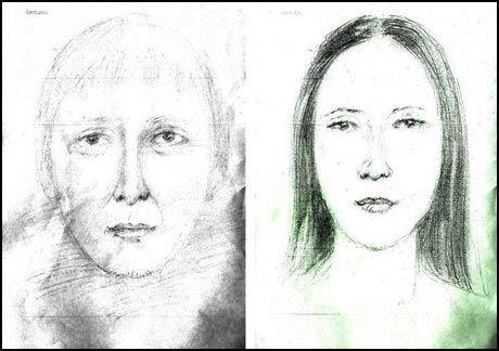 SPØKET OM TEGNING: På flyplassen skal Karen Esdrelon (24) ha spøket med forloveden Sven-Erik Berger (49) og sagt at tegningen lignet på ham. Foto: Politiet