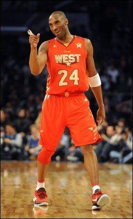 BANENS BESTE: LA Lakers-stjernen Kobe Bryant ble kåret til kampens mest verdifulle spiller. Foto: AP