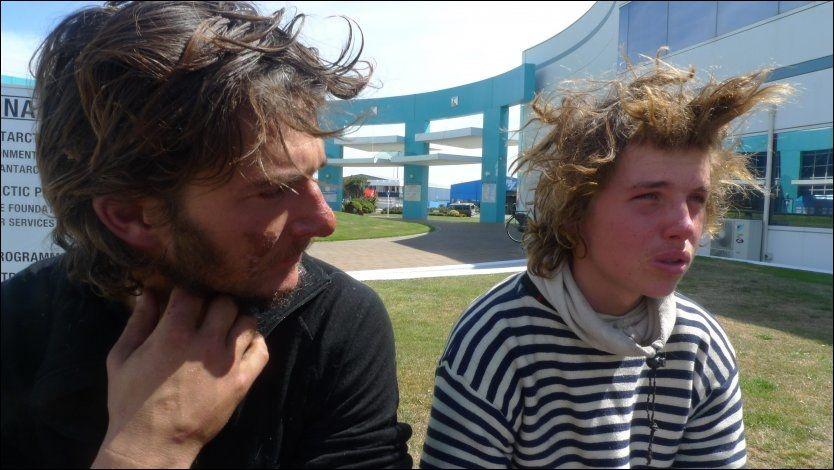 BRØT MELDEPLIKTEN: Skipper Jarle Andhøy og Samuel Massie dro til Antarktis uten å overholde meldeplikten til Norsk Polarinstitutt. Nå risikerer Andhøy bøter og fengselsstraff. Foto: JON MAGNUS