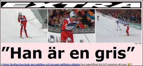 Foto: Faksimile Aftonbladet.se etter stafetten
