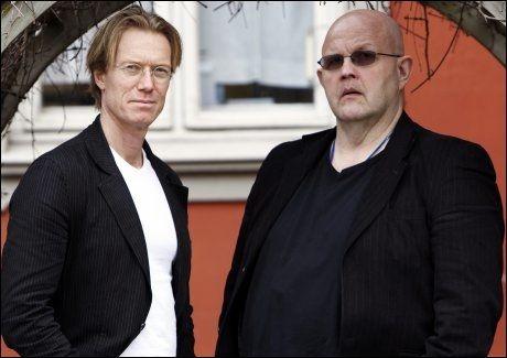 TREFFER BLINK: Den svenske forfatterduoen, ekskriminelle Börge Hellström (t.h.) og reporteren Anders Roslund (t.v.), leverer førsteklasses krim. Foto: Scanpix