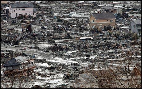 ENORME ØDELEGGELSER: Byen Ishinomaki er blant de hardest rammede etter jordskjelvet og tsunamien. Foto: AFP