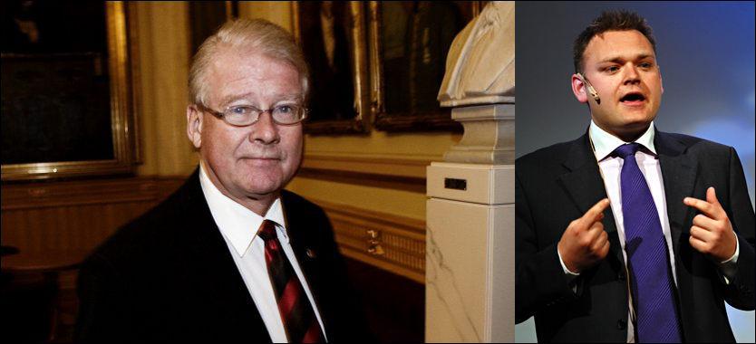 TALENT: Carl I. Hagen har aldri lagt skjul på at han så på Trond Birkedal som et stort politisk talent. Foto: Trond Sørås og Geir Otto Johansen/Scanpix