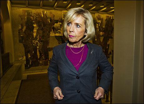 STRAMMER INN: Statsråd Anne-Grete Strøm-Erichsen følger opp regjeringens verdighetsgaranti. Foto: Frode Hansen