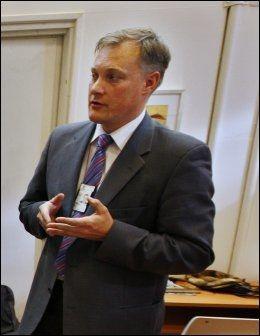 DNA-ANSVARLIG: Erik Liaklev, leder DNA-prosjektet som Politidirektoratet har ansvar for. Foto: Erlend Aas/Scanpix