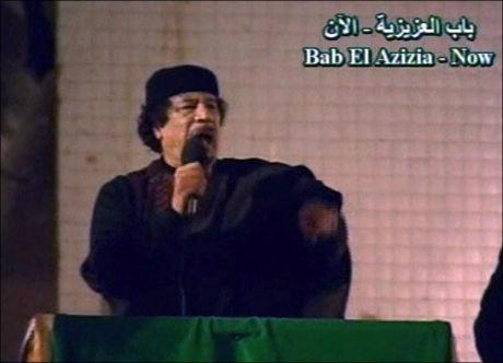 ELSKER DATTEREN: Oberst Muammar Gaddafi skal være svært glad i datteren Aysha. Foto: AP
