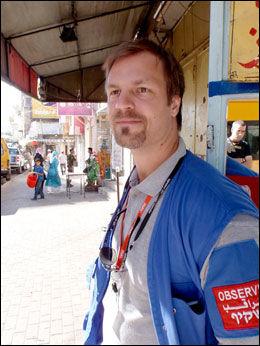 DREPT: Den svenske FN-juristen Joakim Dungel (33). Foto: PRIVAT