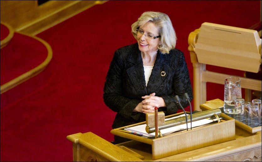 FULL STRID: Helseminister Anne-Grete Strøm-Erichsen skal ha sagt nei til rettighetsfesting, men tilhengerne gir ikke opp kampen. Foto: Scanpix