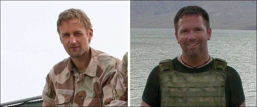 HYLLES SOM HELTER: Eirik Kristoffersen (t.v.) og Jørg Lian er tildelt Krigskorset med sverd. De mottar medaljen 8. mai. Foto: Forsvaret