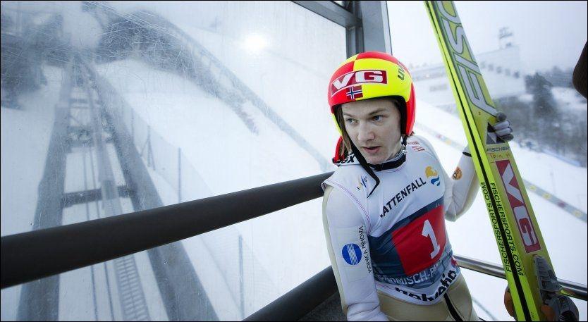 MÅ OPP I VEKT: Tom Hilde - her på vei opp i olympiabakken i Garmisch-Partenkirchen. Foto: VG