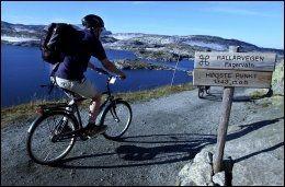 RALLARVEGEN: Dette er en populær sykkelrute i sommersesongen. Foto: LINE MØLLER.