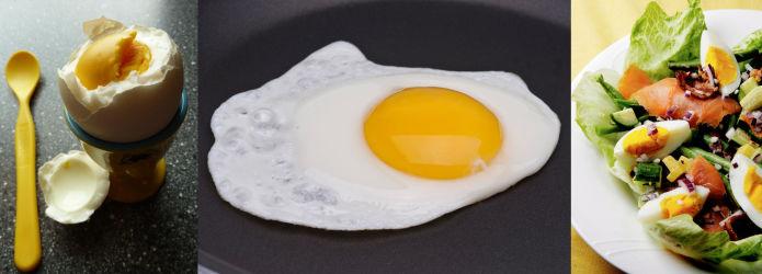 kalorier i et kokt egg