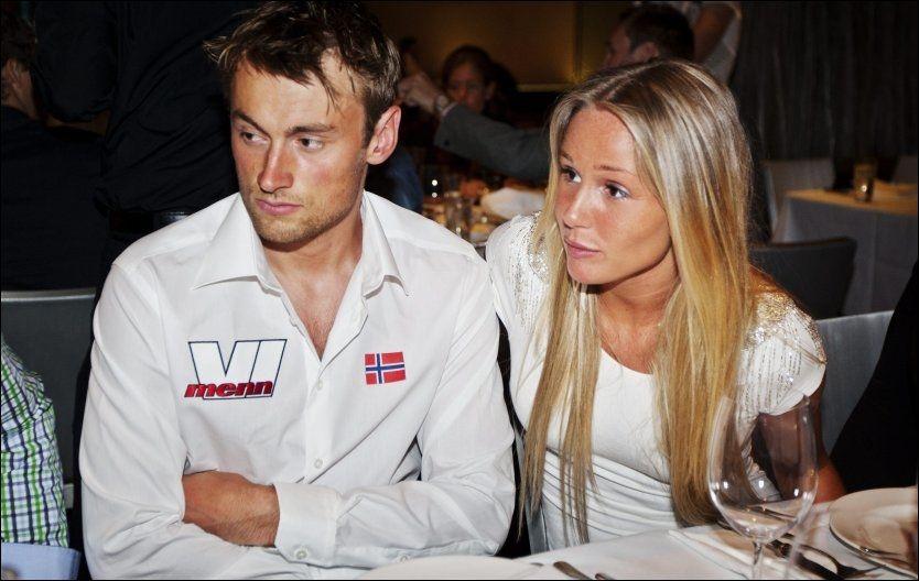 BRUDD: Her spiser Petter middag sammen med kjæresten Rachel Nordtømme i Las Vegas i fjor sommer. Foto: Jørgen Braastad / VG