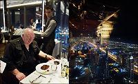 Slik er det å spise på verdens høyeste restaurant