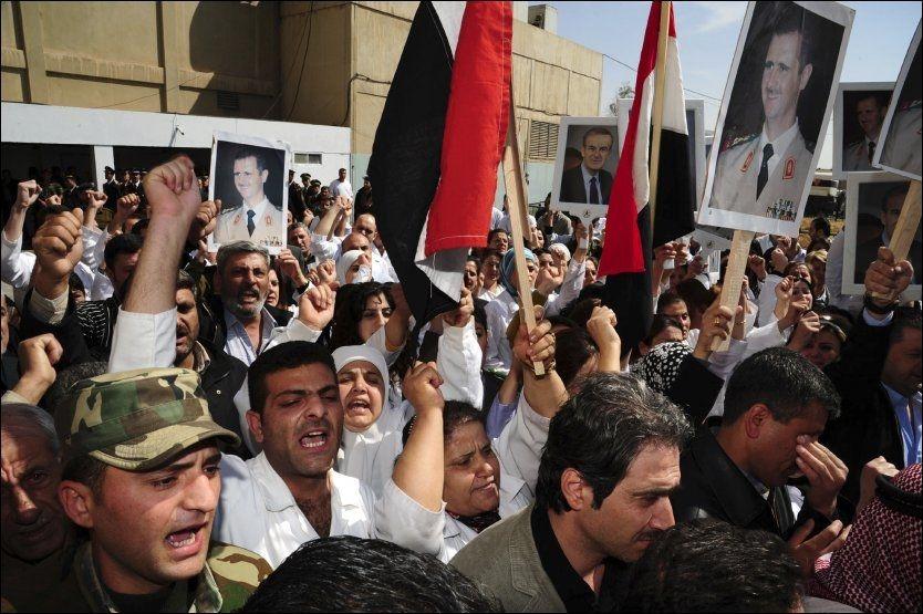 Demonstrasjonene i regimet i Syria har pågått lenge. Foto: AP