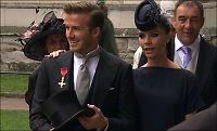 Beckham kom til bryllupet med hedersmedalje