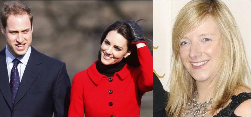 SNEK SEG INN: Stjernedesigner Sarah Burton (t.h.) skal ha tatt inn på Goring Hotel i går, hvor Kate Middleton har tilbrakt siste natt før hun i dag gifter seg med prins William. Foto: AFP og Camera Press Foto: