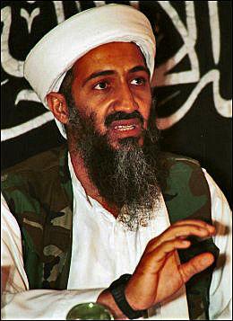 DREPT: Osama bin Laden. Foto: MAZHAR ALI KHAN