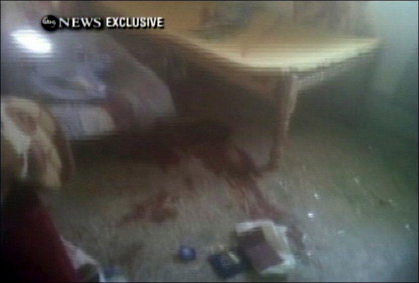 DRAMATISK: Dette bildet er tatt inne i bin Ladens hus i forbindelse med aksjonen. Foto: AP