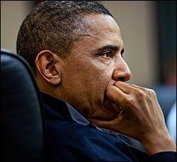 INTENST: President Obama og hans rådgivere fikk løpende oppdateringer mens den 40 minutter lange militæraksjonen varte. Foto: Det hvite hus